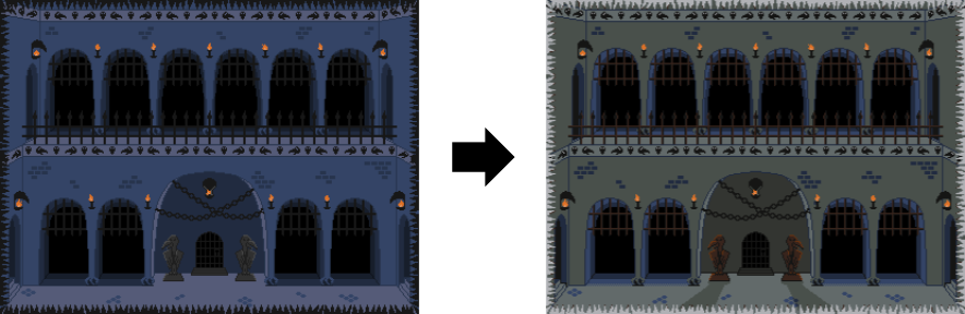 Old dungeon compared with new dungeon